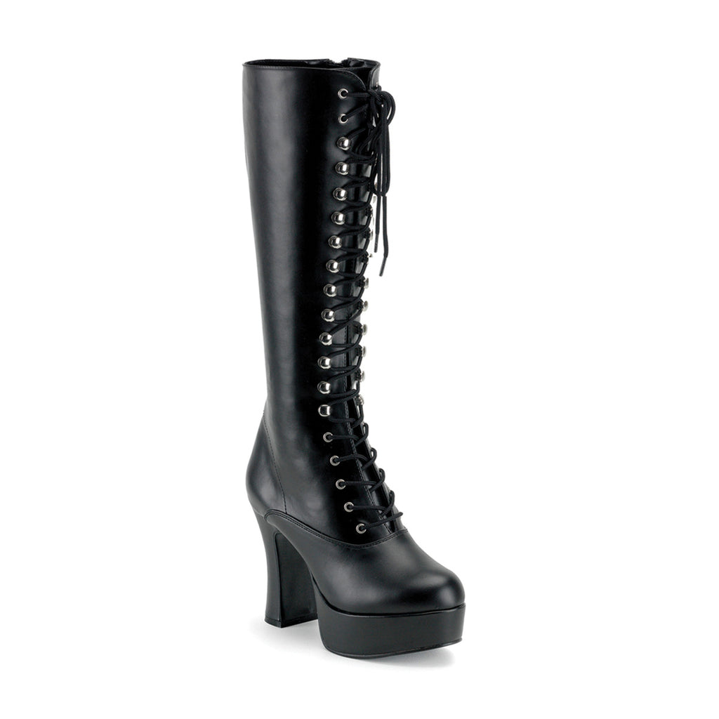 Black EXOTICA-2020 Lace Up Go Go Boots - The Atomic Boutique