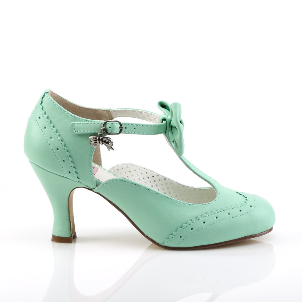 Mint Green Flapper T-Strap Pumps FLAPPER-11 - The Atomic Boutique