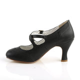 Criss Cross Black Flapper Pumps FLAPPER-35 - The Atomic Boutique