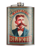 Trixie and Milo Mustache Elixir Stainless Steel Flask - The Atomic Boutique