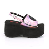 Pink Hologram Platform Sandals FUNN-32 - The Atomic Boutique