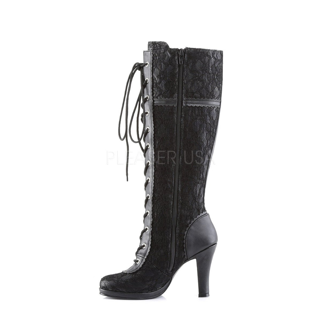 Lace Overlay Knee High Boots - The Atomic Boutique  - 3