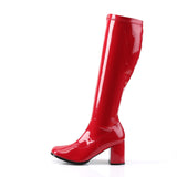 Shiny Red GOGO-300 Boots - The Atomic Boutique