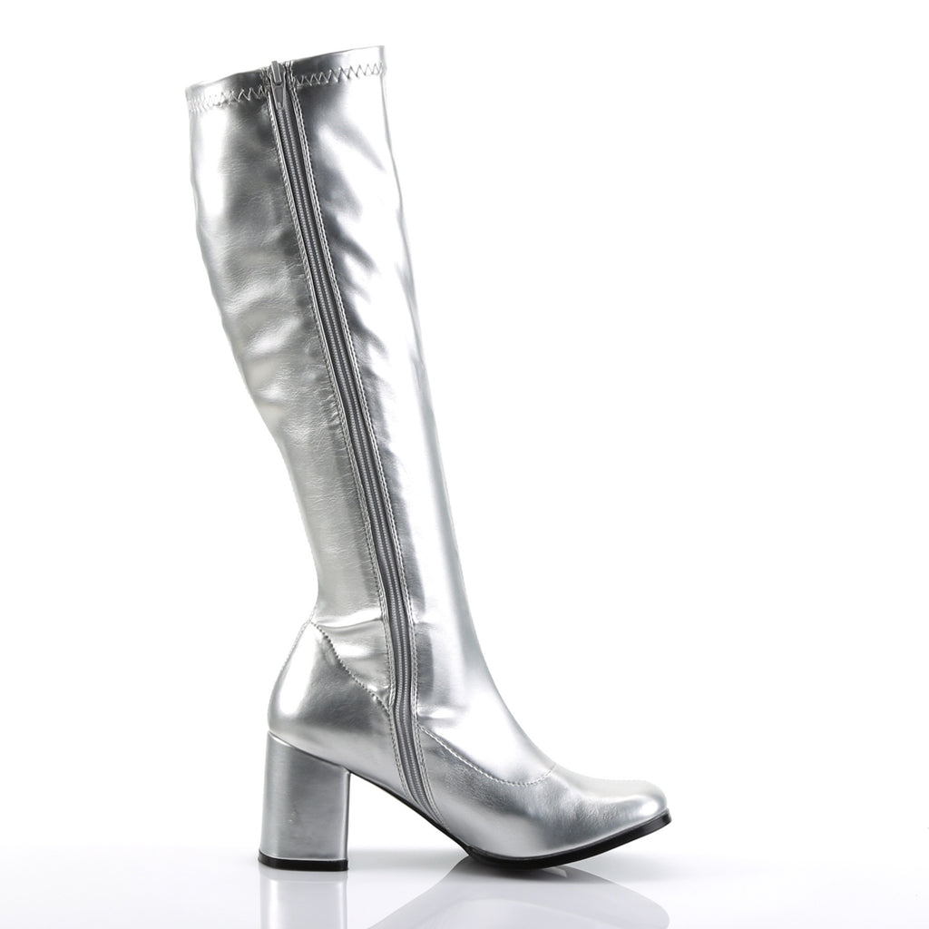 Silver GOGO-300 Boots - The Atomic Boutique