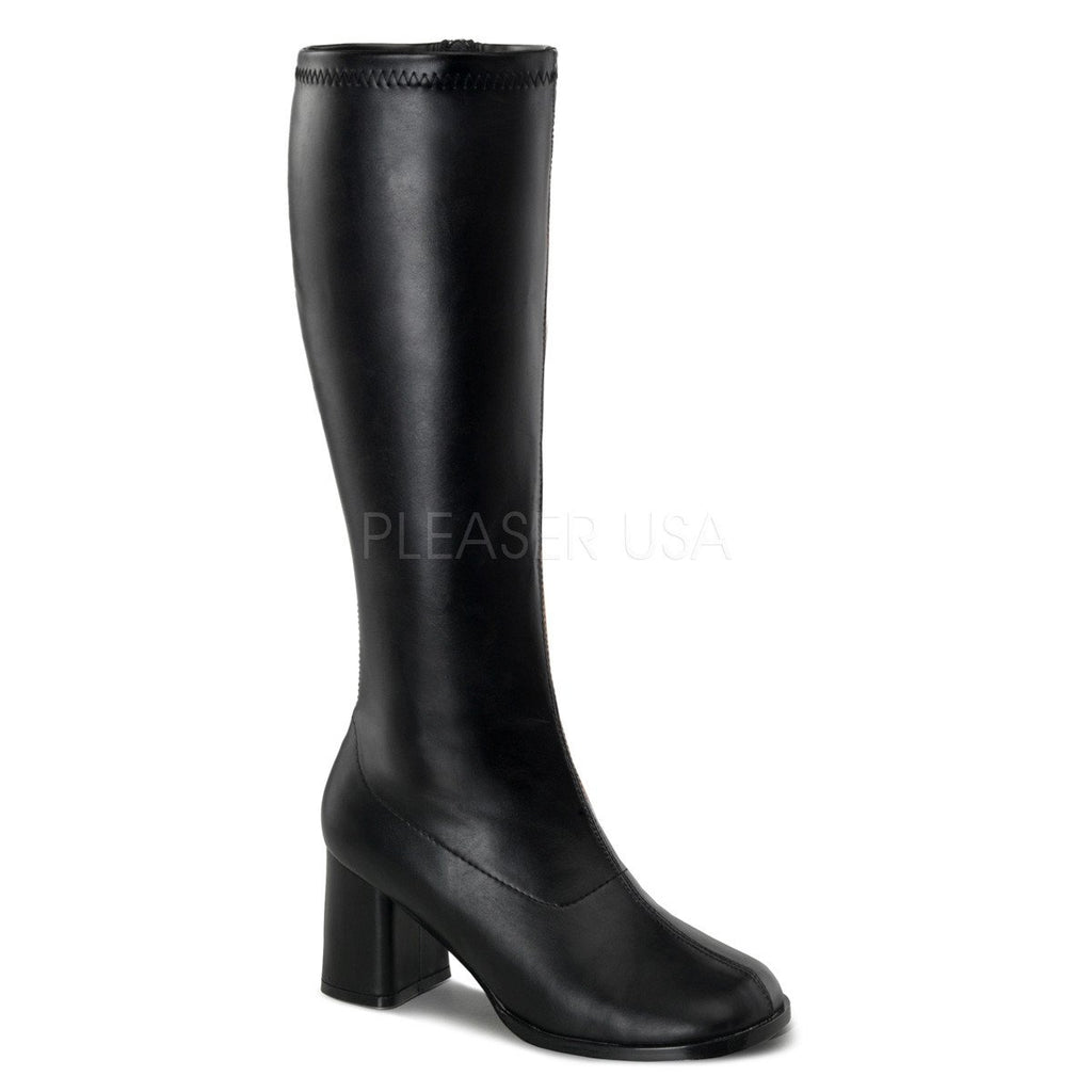 Funtasma Wide Calf Black Matte Go Go Boots - The Atomic Boutique