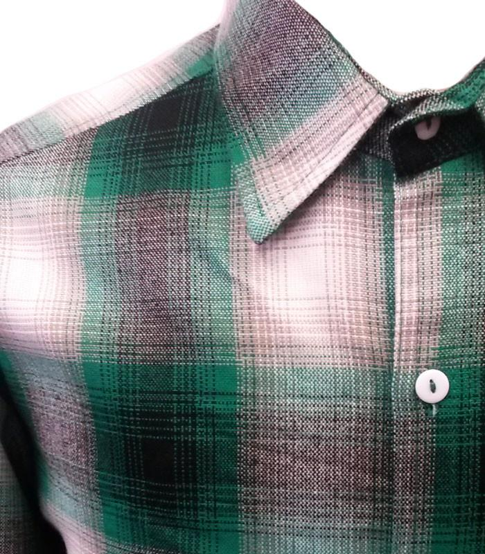 Green Long Sleeve Flannel Shirt - The Atomic Boutique  - 2