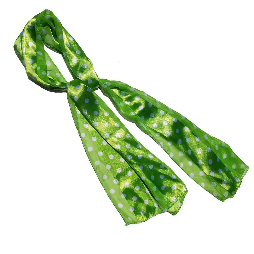 Green Polka Dot Retro Chiffon Oblong Scarf - The Atomic Boutique