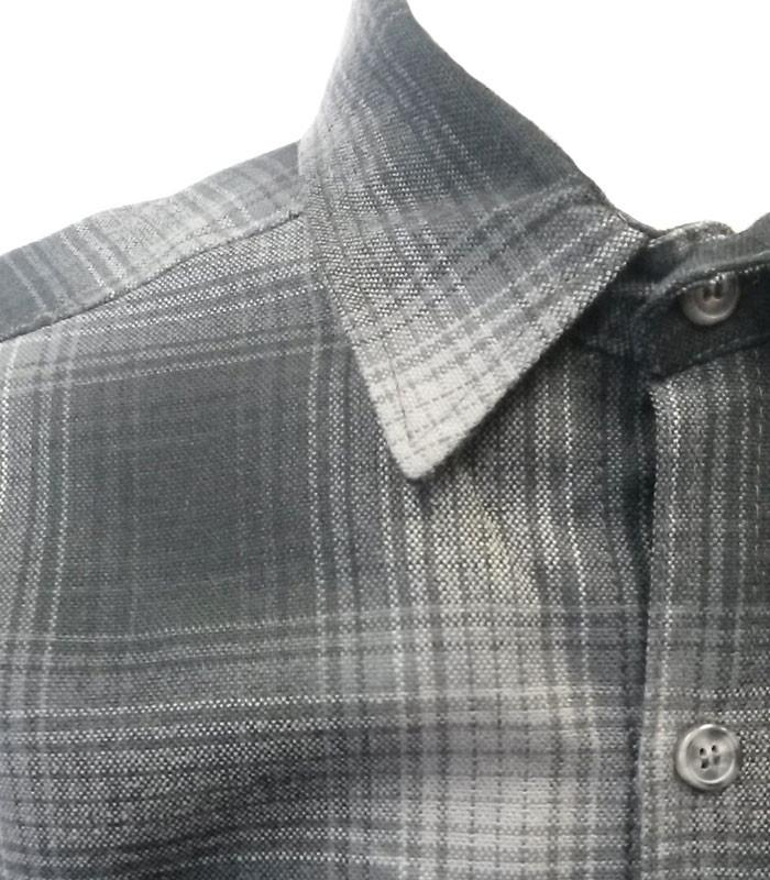 Light Grey Long Sleeve Flannel Shirt - The Atomic Boutique