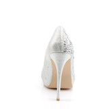 Shimmer Peep Toe Pumps HEIRESS-22R - The Atomic Boutique
