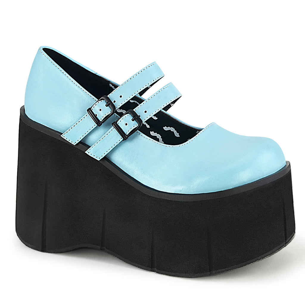 Powder Blue Double Strap Platforms