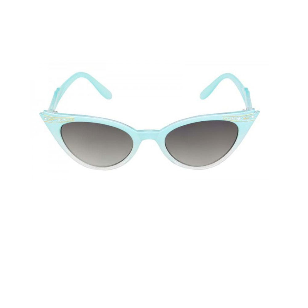 Evie Vintage Inspired Cat Eye Sunglasses Blue - The Atomic Boutique