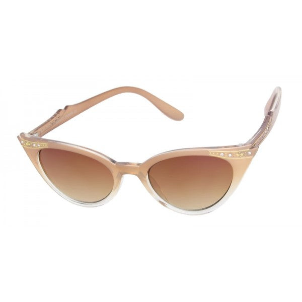 Evie Vintage Inspired Cat Eye Sunglasses Bronze - The Atomic Boutique