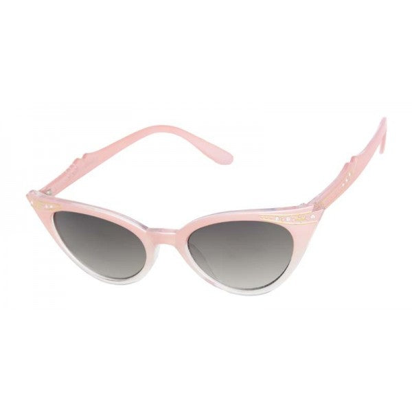 Evie Vintage Inspired Cat Eye Sunglasses Pink - The Atomic Boutique
