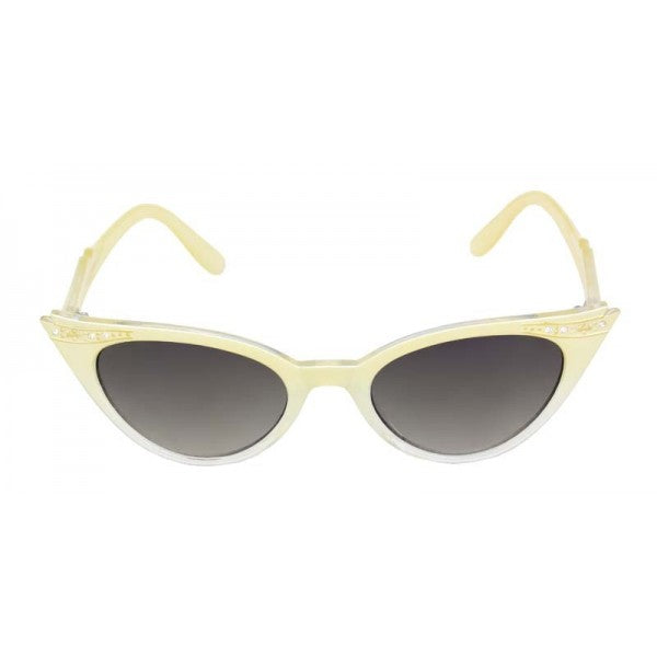 Evie Vintage Inspired Cat Eye Sunglasses Yellow - The Atomic Boutique