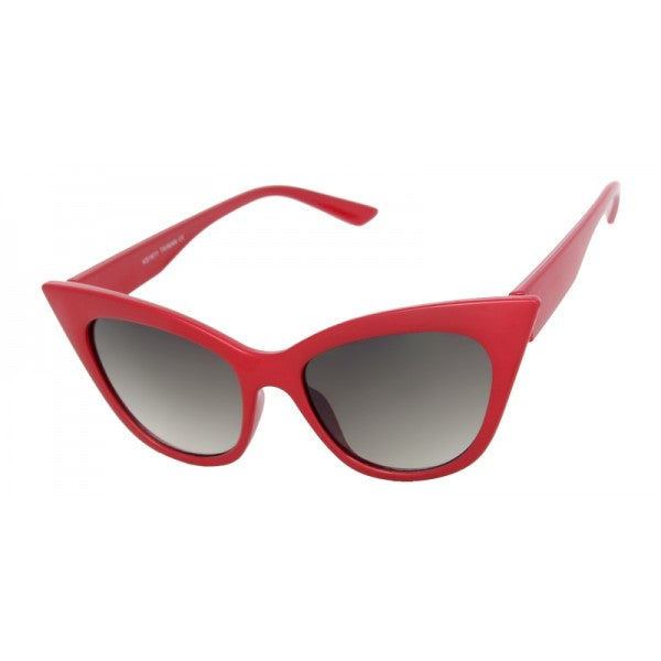 Eva Cat Eye Sunglasses Red - The Atomic Boutique
