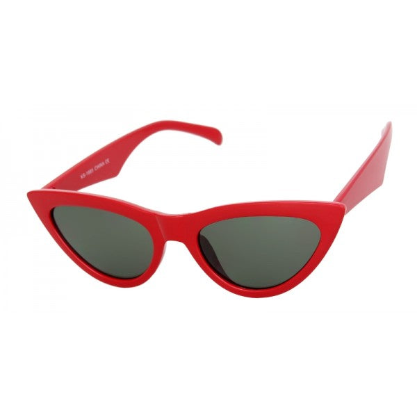Tess Cat Eye Sunglasses Red - The Atomic Boutique