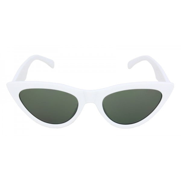 White Tess Cat Eye Sunglasses - The Atomic Boutique