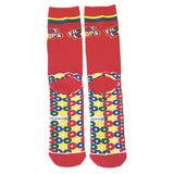 Men's Fruit Loops Print Crew Length Socks