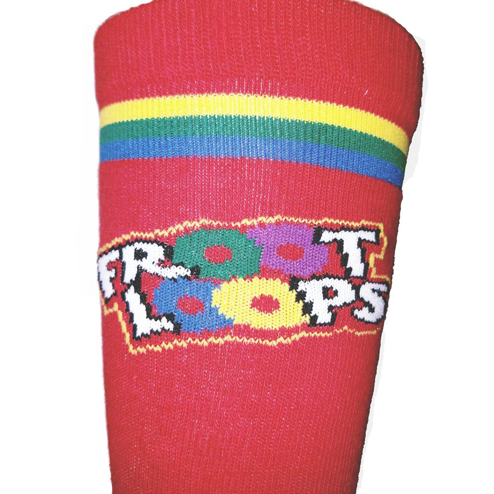 Men's Fruit Loops Print Crew Length Socks - The Atomic Boutique