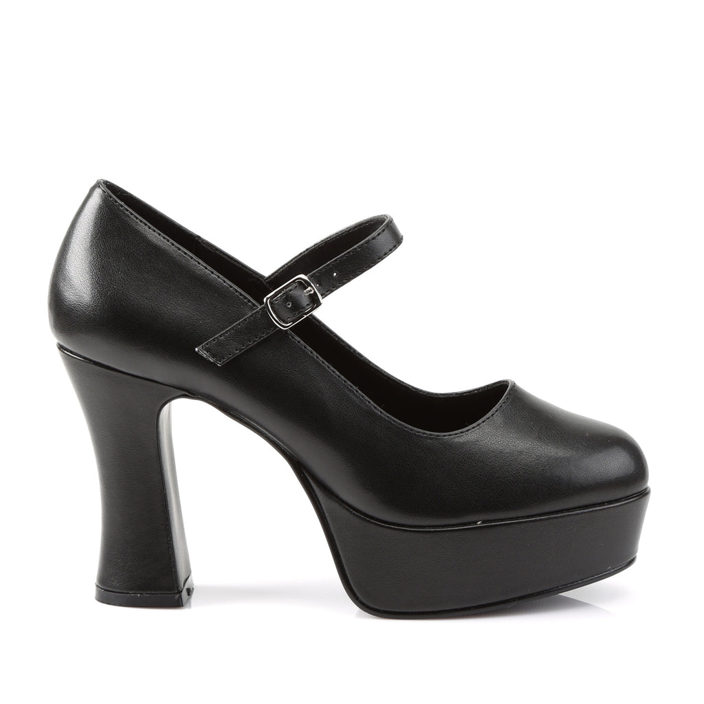 Black MARYJANE-50 Pumps - The Atomic Boutique
