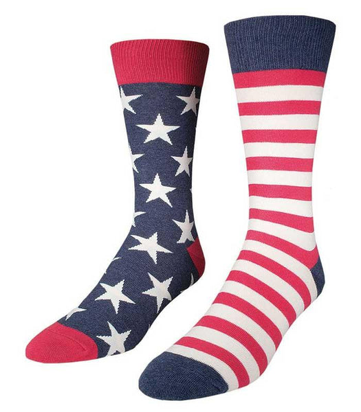 Socksmith Mens United States Flag Crew Socks - The Atomic Boutique