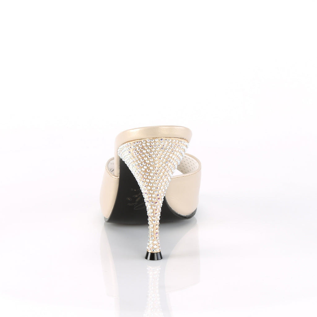Monroe Champagne Rhinestone Slides MONROE-05 - The Atomic Boutique
