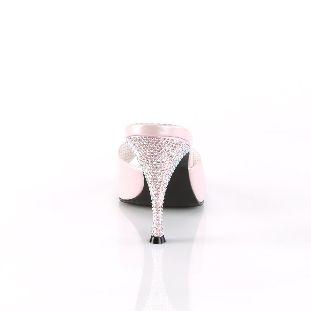 The Monroe Pink Rhinestone Slides MONROE-05 - The Atomic Boutique