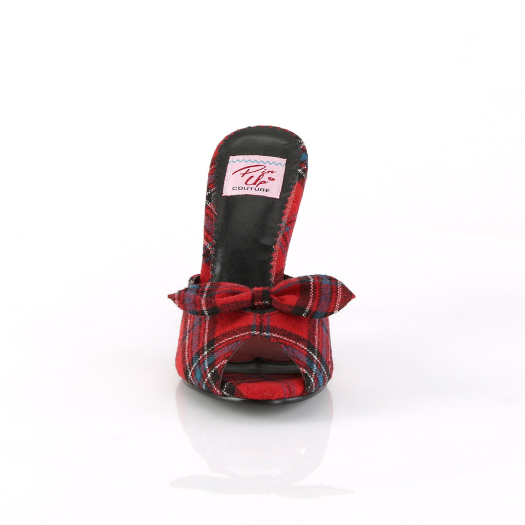 Red Plaid Monroe Slides MONROE-08 - The Atomic Boutique