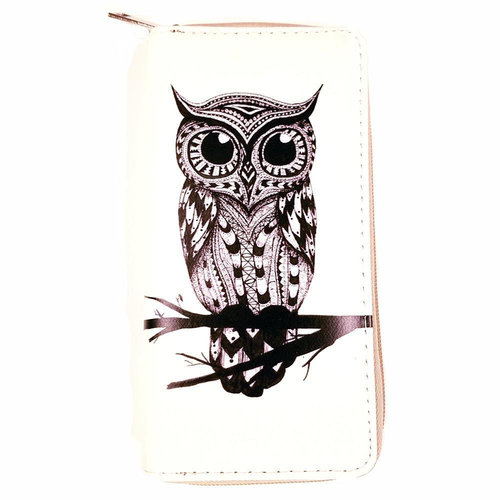 Owl Print Wallet - The Atomic Boutique