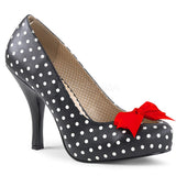 Pleaser Pink Label Black and White Polka Dot Slip-On Pumps