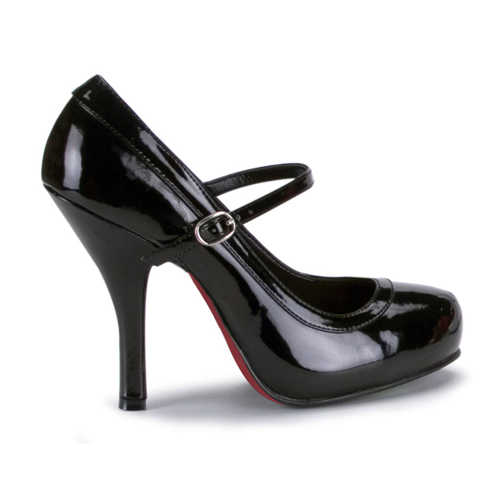 Shiny Black PRETTY-50 Mary Jane Pumps - The Atomic Boutique