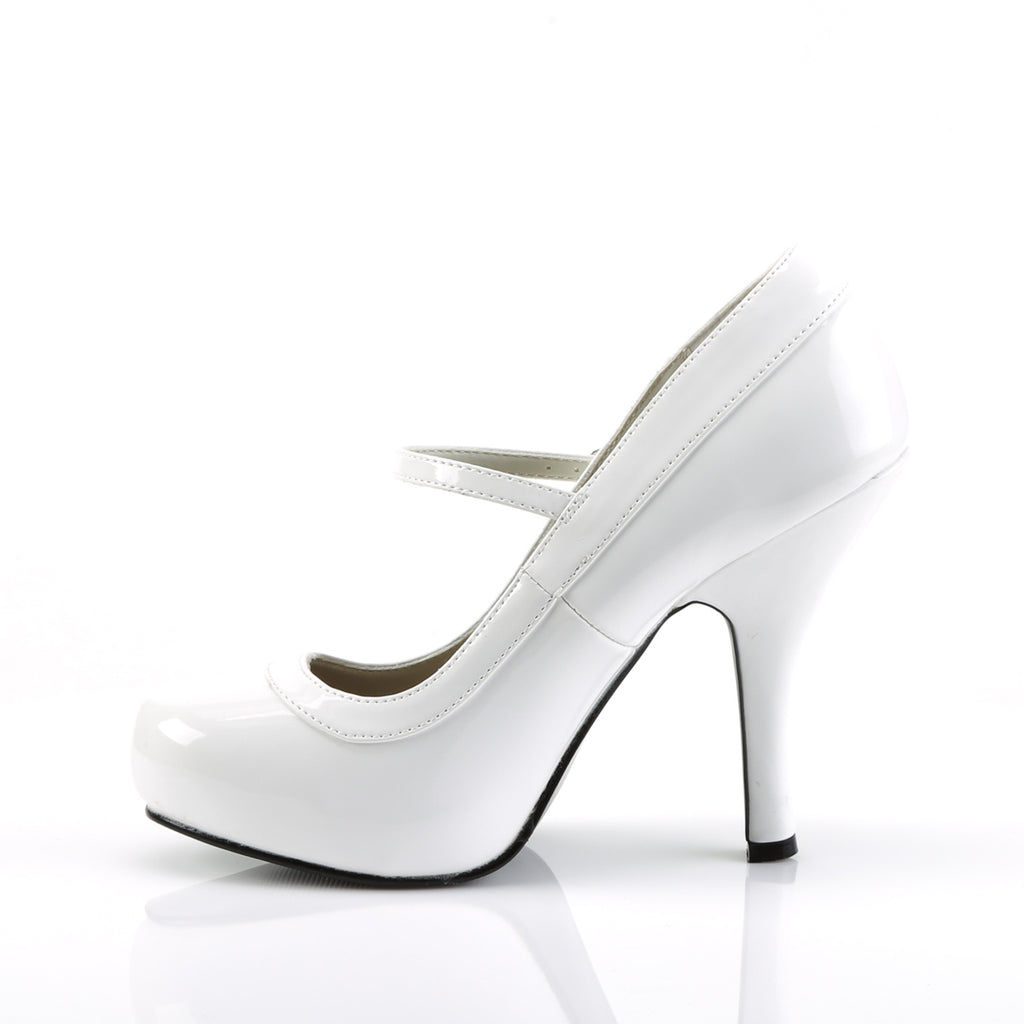 White Mary Jane PRETTY-50 Pumps - The Atomic Boutique