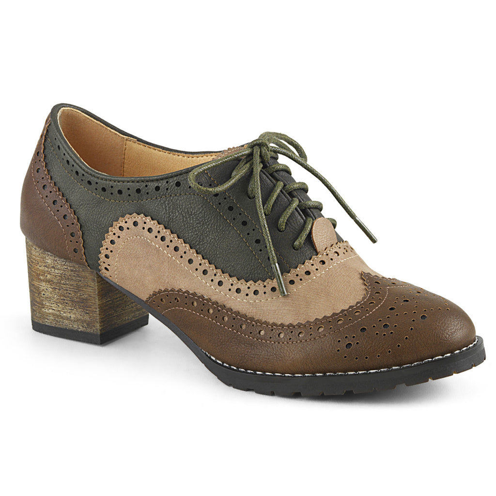 Multi Color Faux Leather Lace Up Oxfords RUSSELL-34 - The Atomic Boutique