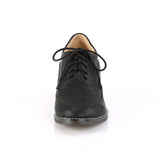 Faux Leather Lace Up Spectator Wingtip Oxfords RUSSELL-34 - The Atomic Boutique