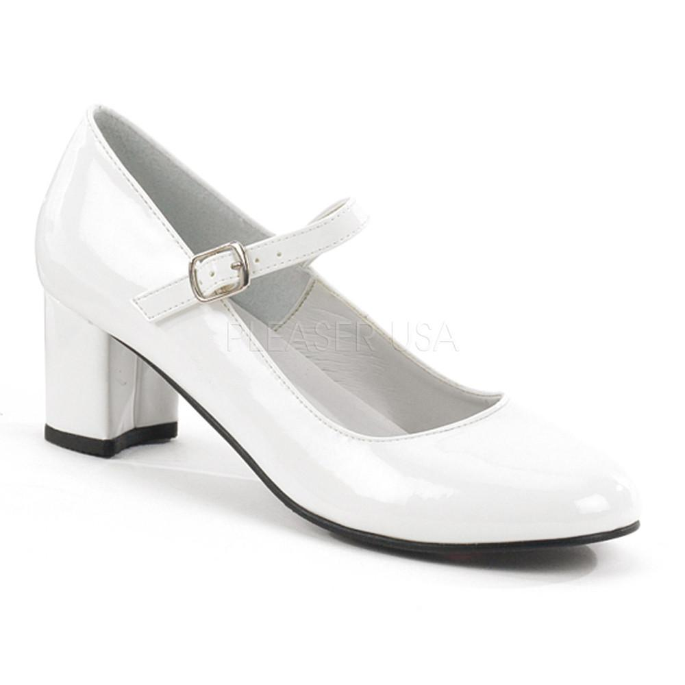 Funtasma Schoolgirl Mary Jane White Pumps - The Atomic Boutique