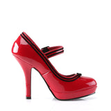 Shiny Red Secret Mary Jane Pumps SECRET-15 - The Atomic Boutique