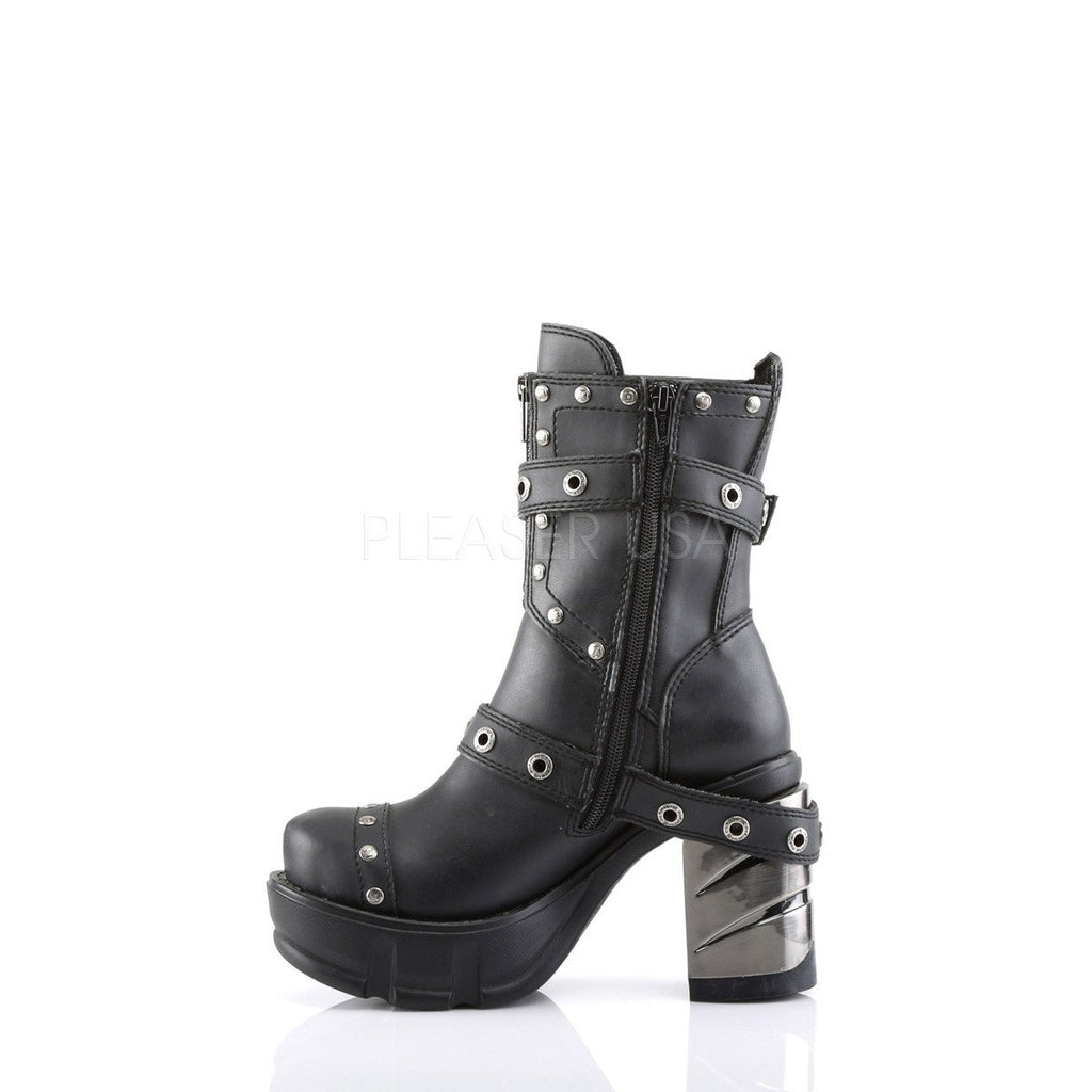 Demonia Multi Strap Studded Ankle Boots - The Atomic Boutique