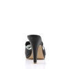 Bow Accent Black Platform Slides SIREN-03 - The Atomic Boutique