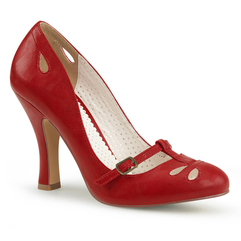 Smitten Red Instep Mary Jane Pumps SMITTEN-20 - The Atomic Boutique