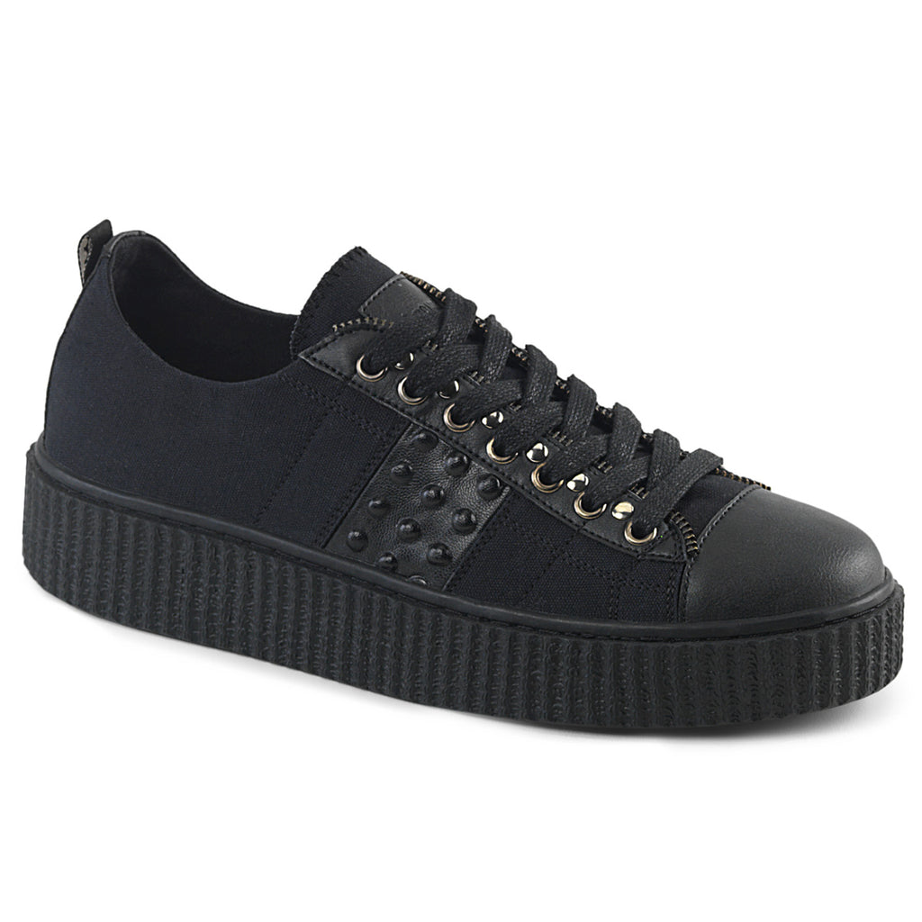 Triple Stud Detail Rubber Sole Platform Sneeker - The Atomic Boutique
