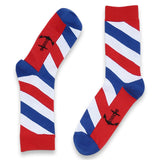 Barber Pole Striped Socks - The Atomic Boutique