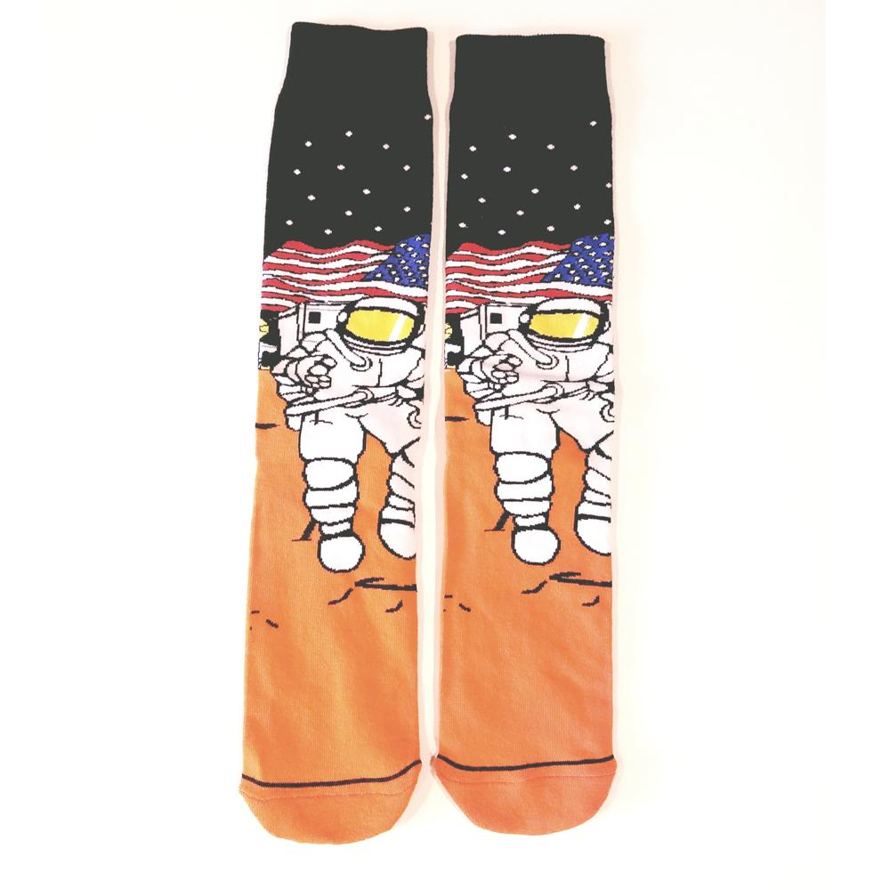 Men's Space Explorer Crew Length Socks - The Atomic Boutique