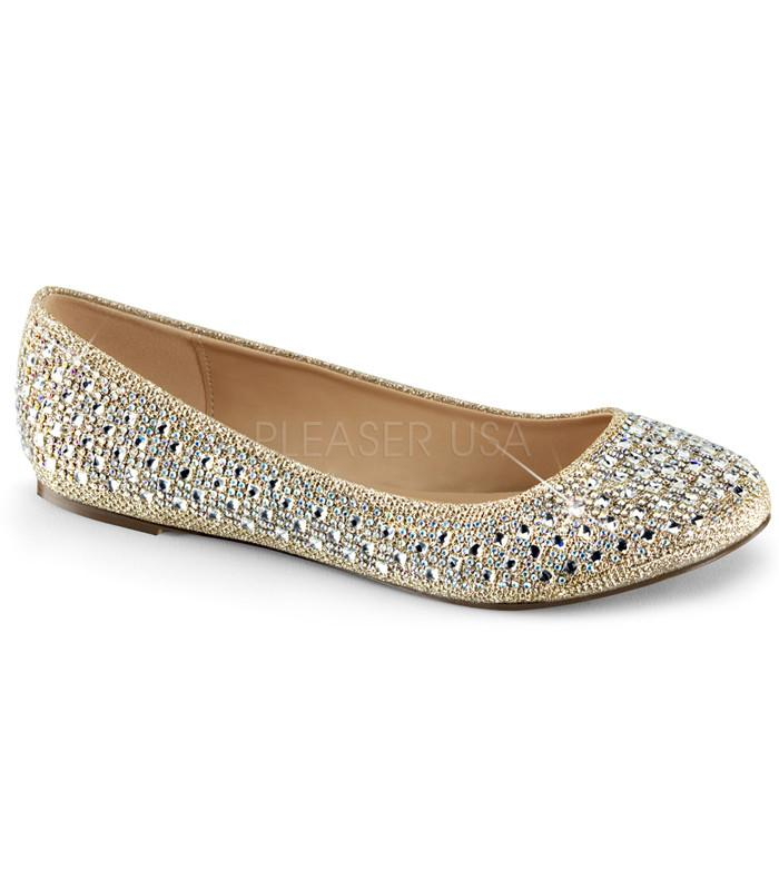 Fabulicious Gold Sparkle Ballet Flats - The Atomic Boutique