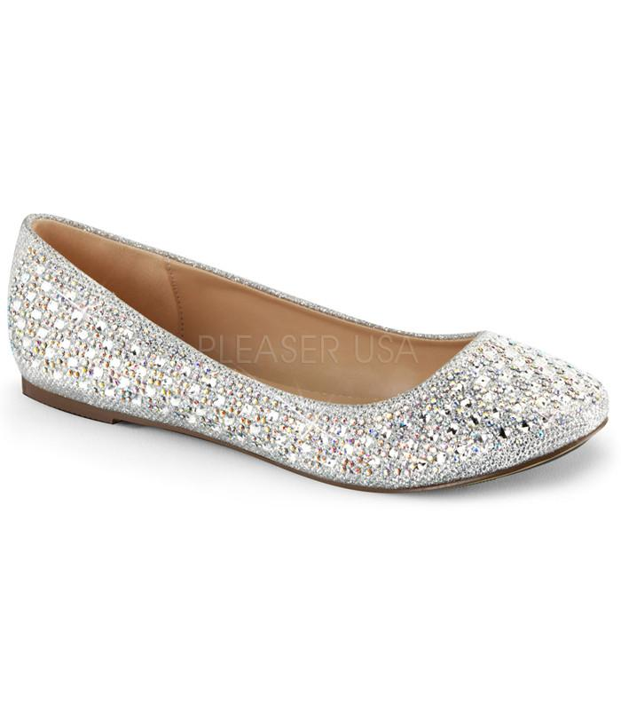 Fabulicious Silver Sparkle Ballet Flats - The Atomic Boutique