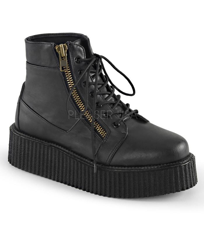 Demonia Black Two Inch Creeper Boots - The Atomic Boutique