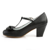 T-Strap Black Wiggle Cuban Heels WIGGLE-50 - The Atomic Boutique