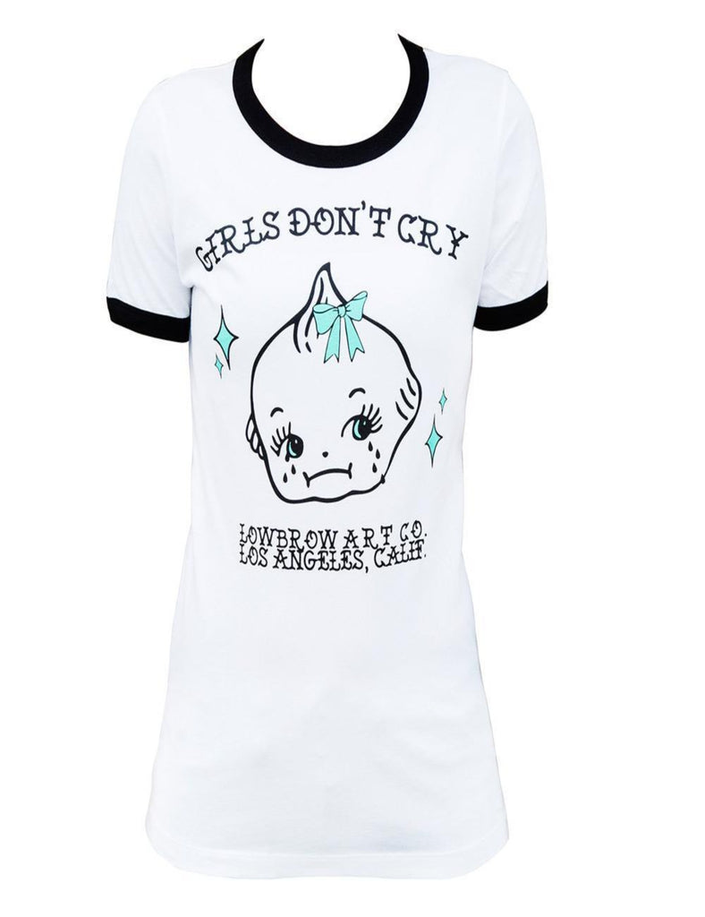 Girls Don't Cry Fitted Ringer Tee - The Atomic Boutique