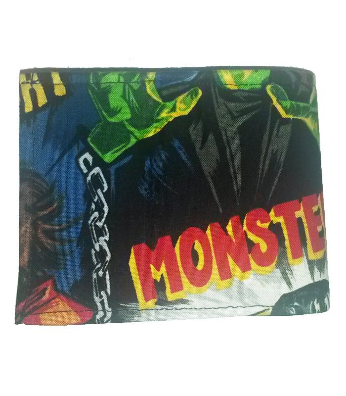 Mens Monster Print Bi Fold Wallet - The Atomic Boutique  - 2