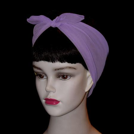 Light Purple Retro Chiffon Scarf - The Atomic Boutique  - 3
