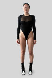 The Nya Bodysuit in Black
